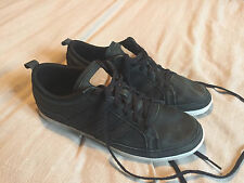 Adidas Originals Adi Up Low Leather Trainers Double Black Size 7 Good Condition