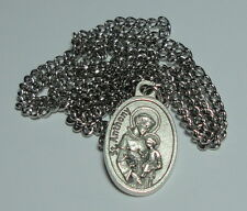 """St Anthony of Padua Third Class Relic Medal on 24"""" Stainless Steel Chain NEW"""