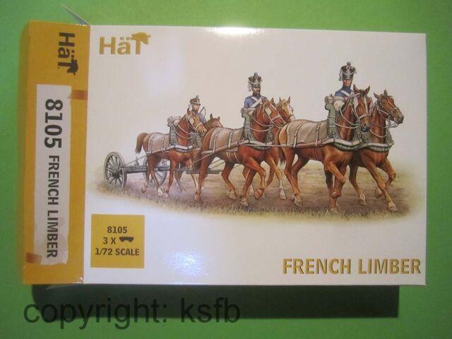 1:72 HäT 8105 Napoleon Frankreich 6 spännige Limber Lafette für Kanone Protze