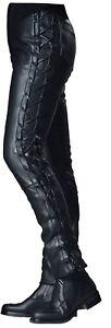 Reducido-Ixs-Cuerda-III-Negro-Robusto-Hombre-Moto-Pantalones-de-Piel-Precio