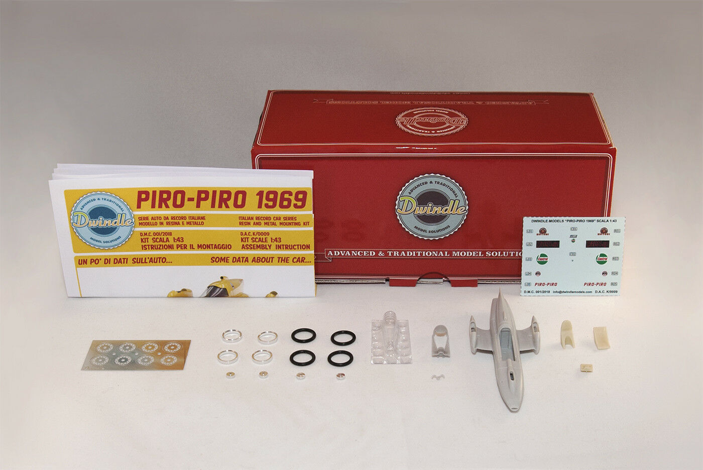 Land Speed Record car MotoBi PIRO PIRO 1969 KIT scala 1 43