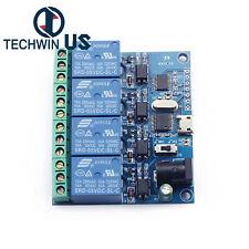 Usb 5v 4 Channel Relay Module Smart Switch Usb Control Module Serial Port