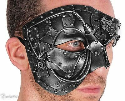 Steampunk Gear Eye Mask Masquerade Halloween Costume Eye Face Gears Silver