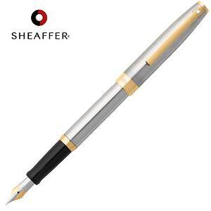 Sheaffer Sagaris Calligraphy Fountain Pen Fine Nib Chrome