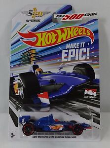 Hot-Wheels-MADE-IT-EPIC-2016-Indy-500-100th-Running-1-64-DieCast-Race-Car-DXY60