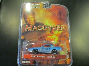 GREENLIGHT 44770 D MACGYVER 1987 PONTIAC FIREBIRD 1//64 DIECAST CAR BLUE