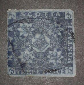 Nova-Scotia-Stamp-3-Used-Dam