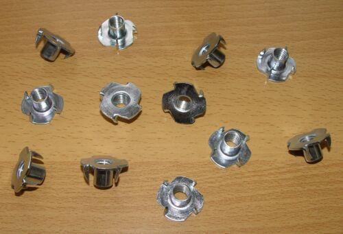 12 Einschlagmuttern Einschlaggewinde für Holz M10 x13mm