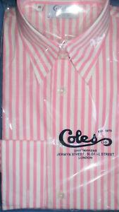 Forward Cuffs Size Point Pink Shirt Coles Ladies French 10 Stripe Collar shdtxQrC