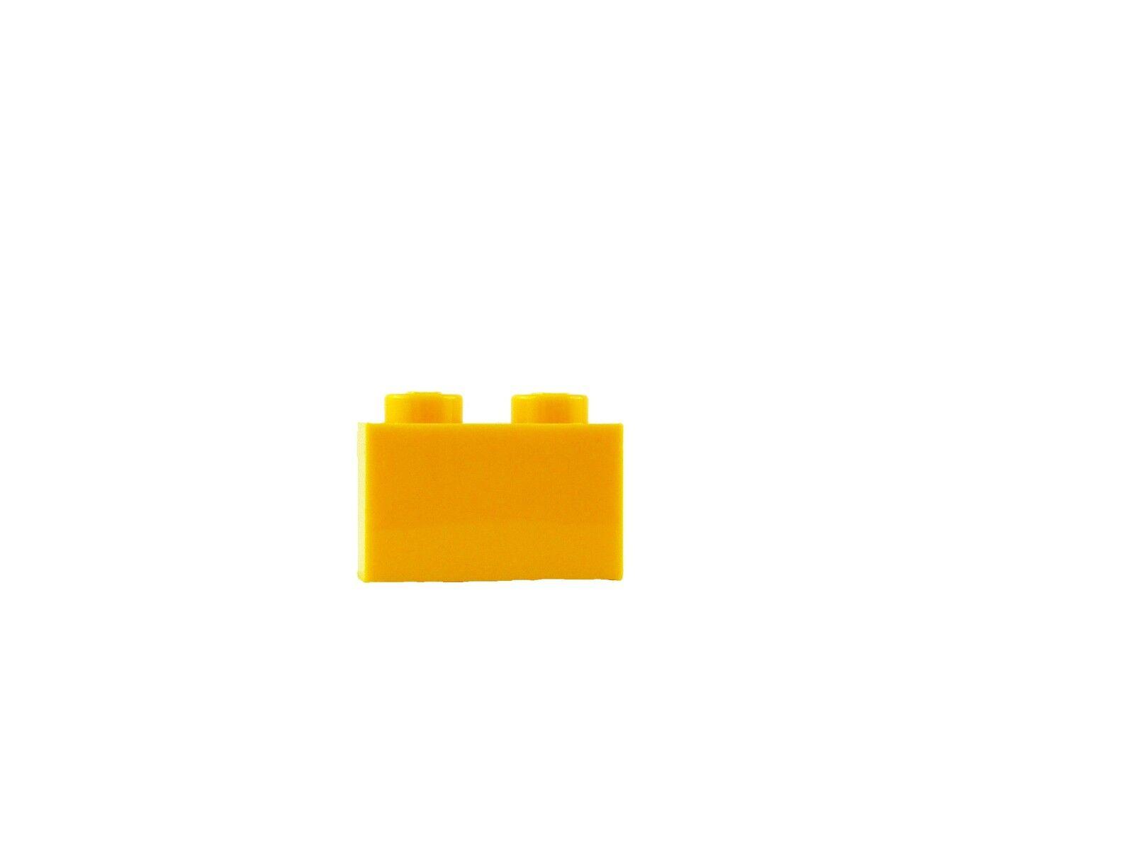 Lego Pack de 50 Pierre 1x2 orange clair (3004) NEUF BRILLANT lumière brique | Matière Choisie