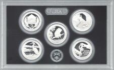 2015-S  SILVER  NATIONAL PARKS  PROOF QUARTER SET  ( 5 coins in plastic case )