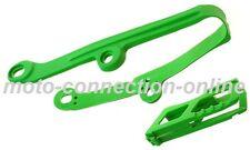 KAWASAKI KXF 250/450 06-15 GREEN CHAIN GUIDES & ROLLER KIT  Pt: 4710 GRN