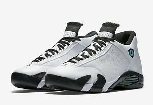 buy online 9a211 463fd Details about Nike Air Jordan 14 XIV Retro White Black Oxidized Green  487471-106