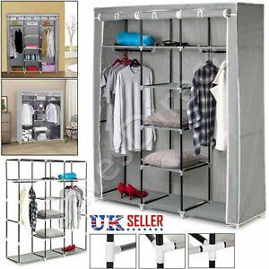 Large-Canvas-Wardrobe-Foldable-Clothes-STORAGE-Cupboard-Shelving-ORGANIZER-See-o