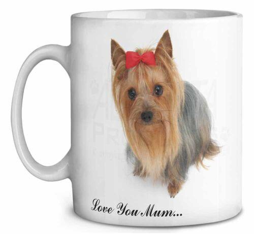 MUM-D15MG Yorkshire Terrier /'Love You Mum/' Coffee//Tea Mug Christmas Stocking Fi