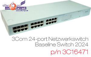 24x Port 10/00 Commutateur 3com Baseline Lan Commutateur 2024 3c16471 Pour