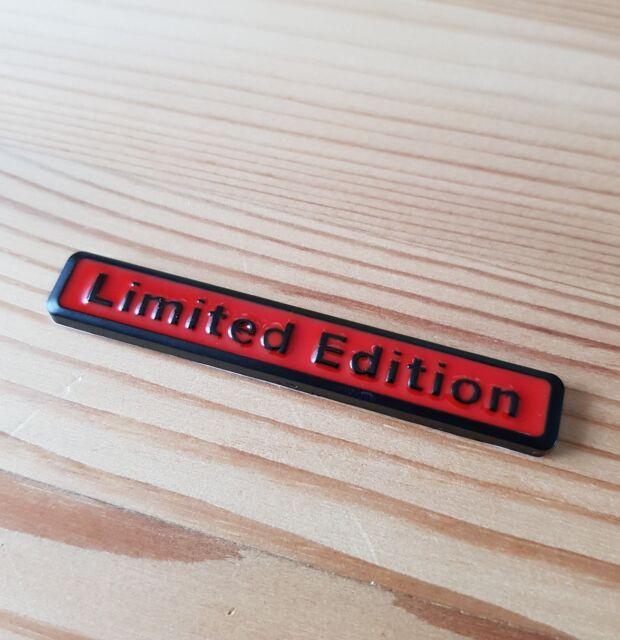 Black Red 3d Metal Limited Edition Badge For Mitsubishi Lancer Evo