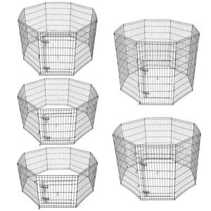 24-30-36-42-48-Dog-Pet-Playpen-Metal-Crate-Fence-Cage-8-Panel-Exercise-Play-Pen