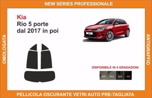 pellicola oscurante vetri pre-tagliata Kia rio 5 porte dal 2017 in poi kit post