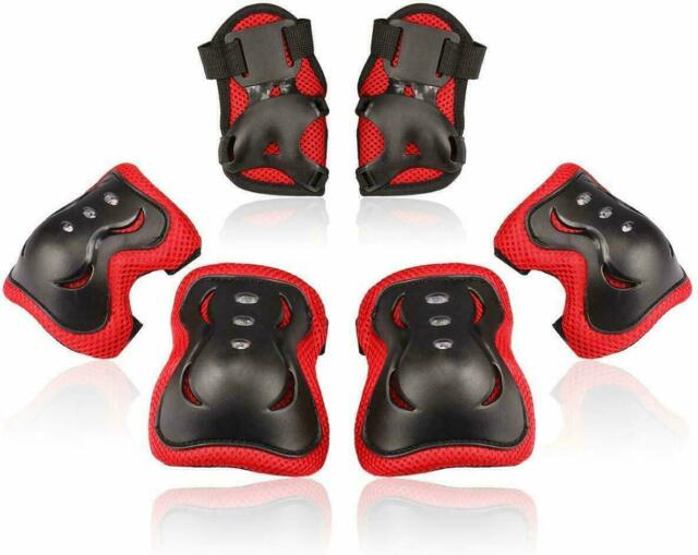 Trendyest 6pcs Knee Pads and Elbow Pads Set Adult Skateboard Protective Gear Set for BMX Bike,Ice Skating,Cycling,Inline Skating,Scooter,Longboarding,Rollerblade
