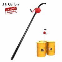 Manual Hand Crank Rotary Pump Oil Fuel Transfer Suctin Drum Barrel New EK