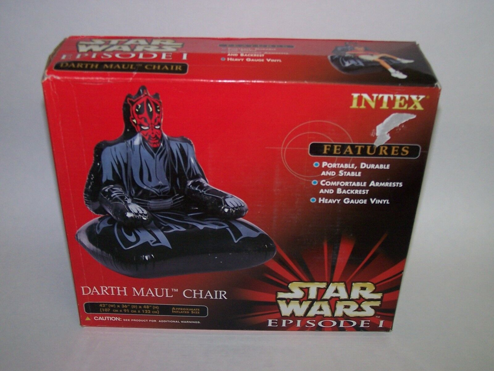 Star Wars Darth Maul Gonflable Chaise épisode 1 Neuf dans sa boîte Sealed Intex