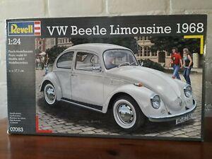 Revell-1-24-No-07083-VW-Beetle-Limousine-1968-Kever-Plastic-Modelkit-2013