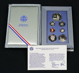 1986 Liberty Prestige Proof Set 7 Coins incl Silver Dollar; FREE PRIORITY SHIP