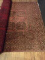 Gulvtæppe, ægte tæppe, b: 168 l: 230, Rødlig