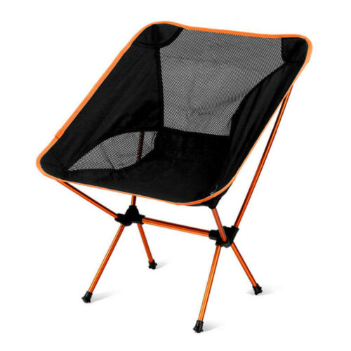Aluminum Alloy Outdoor Camping Folding Moon Chair Fishing Backrest Seat #K