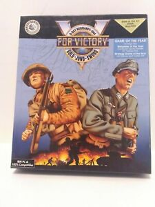 V-for-Victory-Gold-Juno-Sword-PC-1992-Big-Box-Complete-3-5-039-039-Disc-Game