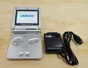 Nintendo Game Boy Advance Gba Sp Platinum Silver System Ags101 Brighter Mint New 45496713850 Ebay