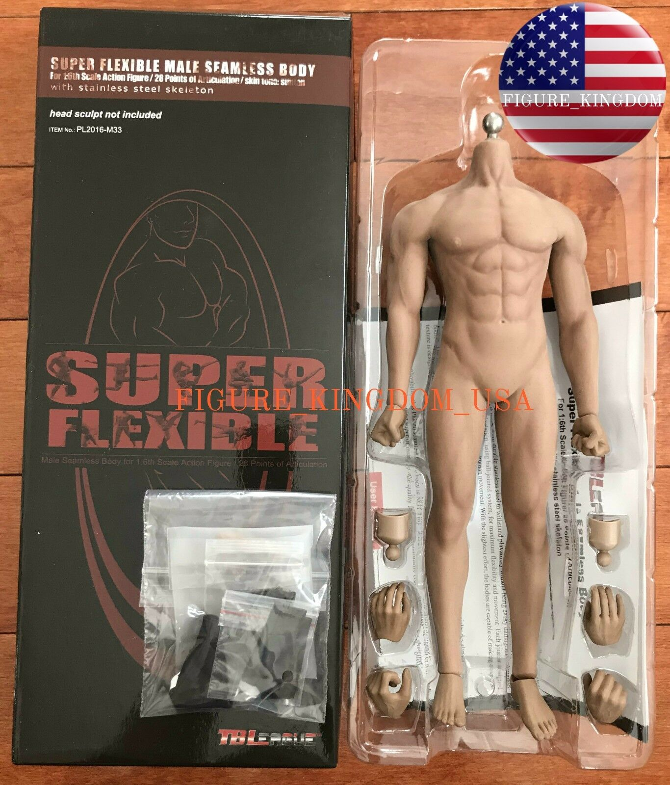 TBLeague PHICEN M33 1 6 Scale Scale Scale Steel Skeleton Male Seamless Muscular Body Figure cbdb13