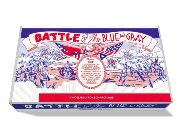 Marx Battle of the Blue and Gray Play Set Box   No. 4658