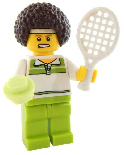 NEW LEGO TENNIS PLAYER MINIFIG male minifigure racket figure athlete sports