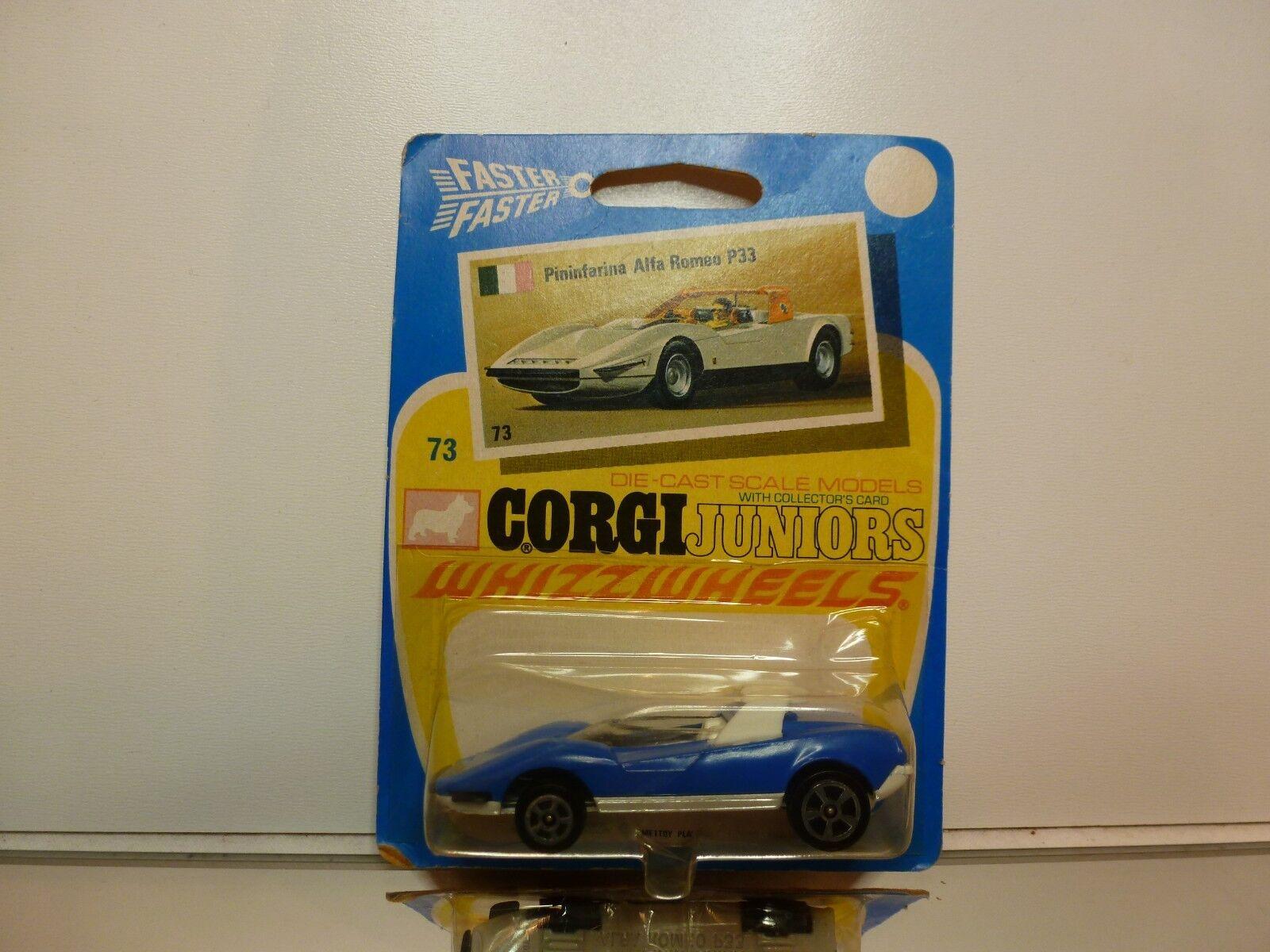 marchio in liquidazione CORGI JUNIORS  ALFA ROMEO P33 PININFARINA  - - - blu L7.0cm - UNOPENED autoD-BLISTER  in vendita