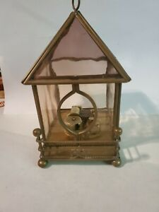 Vintage Wind-up Music Box Metal & Glass Send In The Clowns
