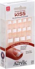 KISS Salon Acrylic French Nail Kit, Simple Life, Medium Length 28 ea