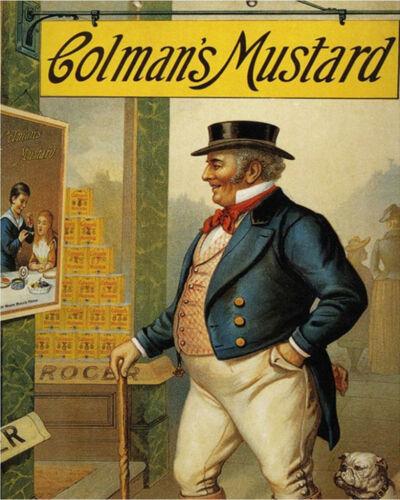 Colmans Mustard Bull Dog Advert VINTAGE ENAMEL METAL TIN SIGN WALL PLAQUE