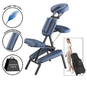 Image is loading Portable-Massage-Chair-Light-Weight -Large-Professional-Therapy-  sc 1 st  eBay & Portable Massage Chair Light Weight Large Professional Therapy ...