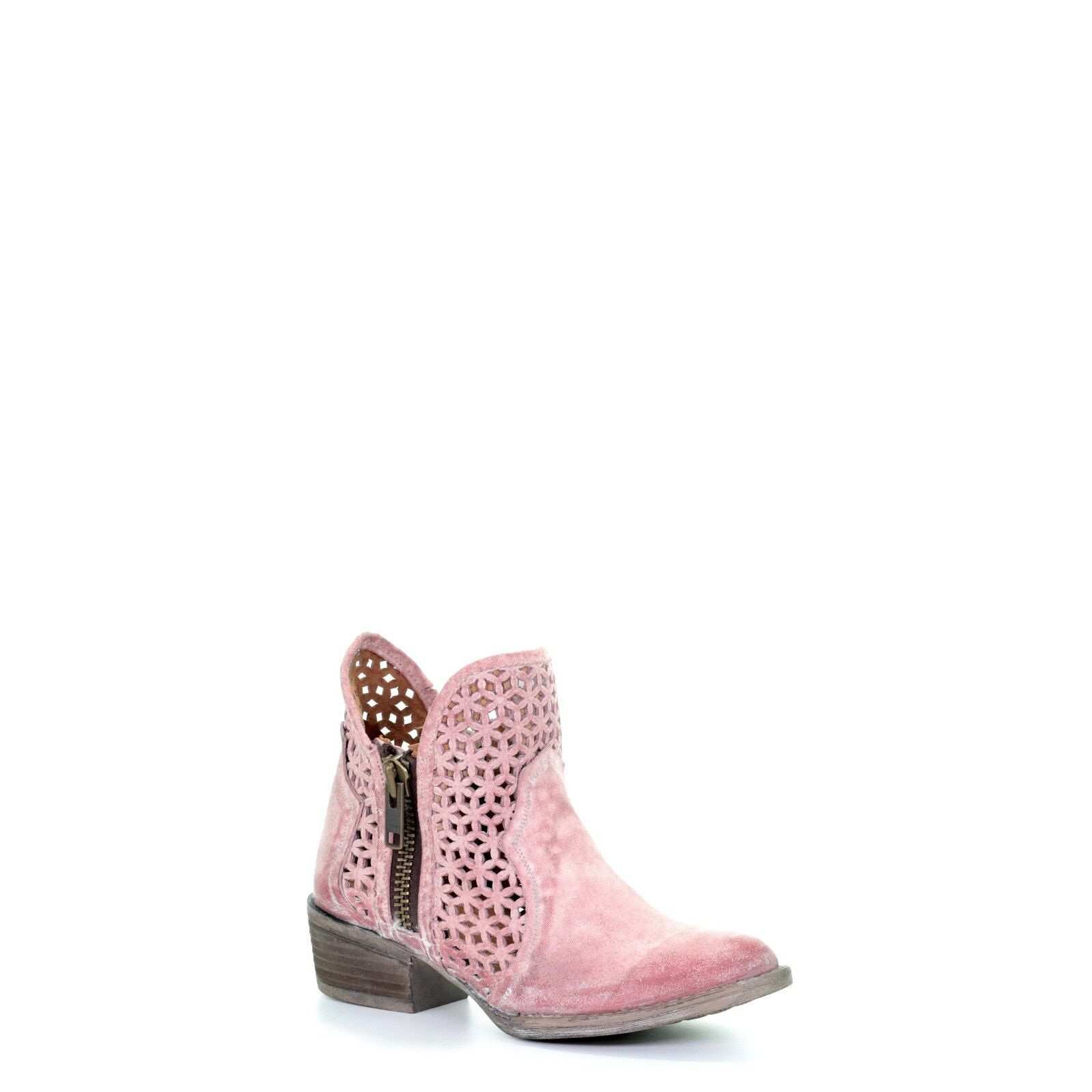 Circle G by Corral Ladies Pink Cutout Shortie Boot Q5062