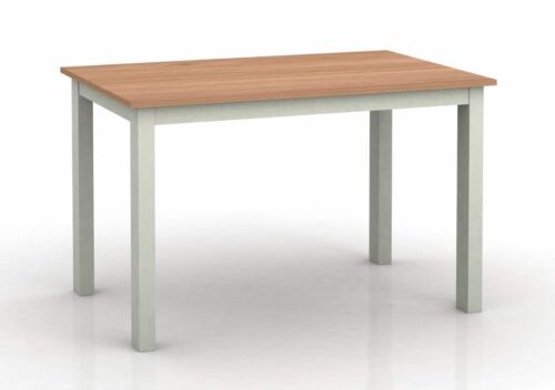 1.5m Wide Dinner Table Stratford Grey Painted Large Fixed Top Dining Table
