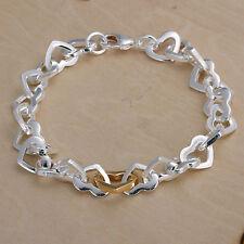 Bracciale donna Collana ad anelli Cuore Gioiello 20cm pl. con Argento sterling