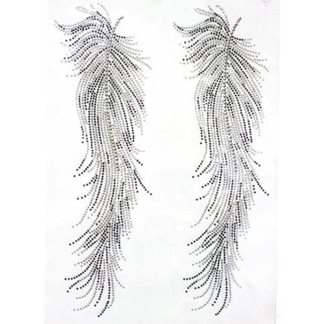 Rhinestone Iron On Transfer Hot fix Motif  Angel  Feathers deco Fashion Design