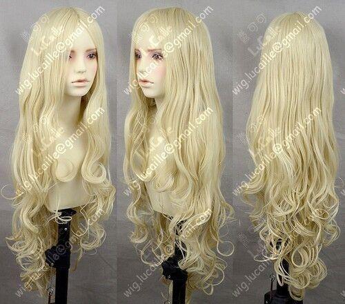 USJF926  long dark Blonde Wavy Lolita Party Cosplay Wig hair  wigs for women