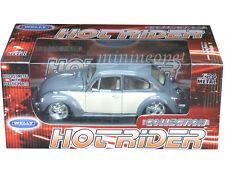 WELLY 22436 LOWER RIDER VW VOLKSWAGEN BEETLE HARD TOP 1/24 DIECAST BEIGE / GREY