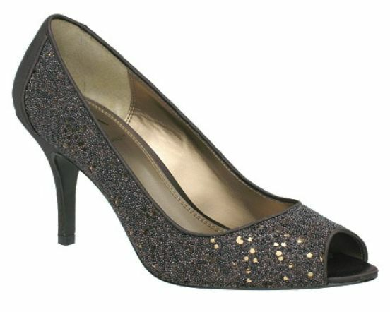 110 M By Marinelli Elle Beaded Pumps NEW Chocolate Caviar Night (Brown) Size 6