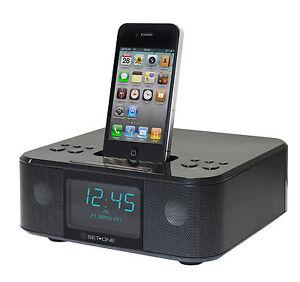 Radiowecker-mit-Dockingstation-Set-One-iPhone-iPod-My-Clock-1000-MP3-Player