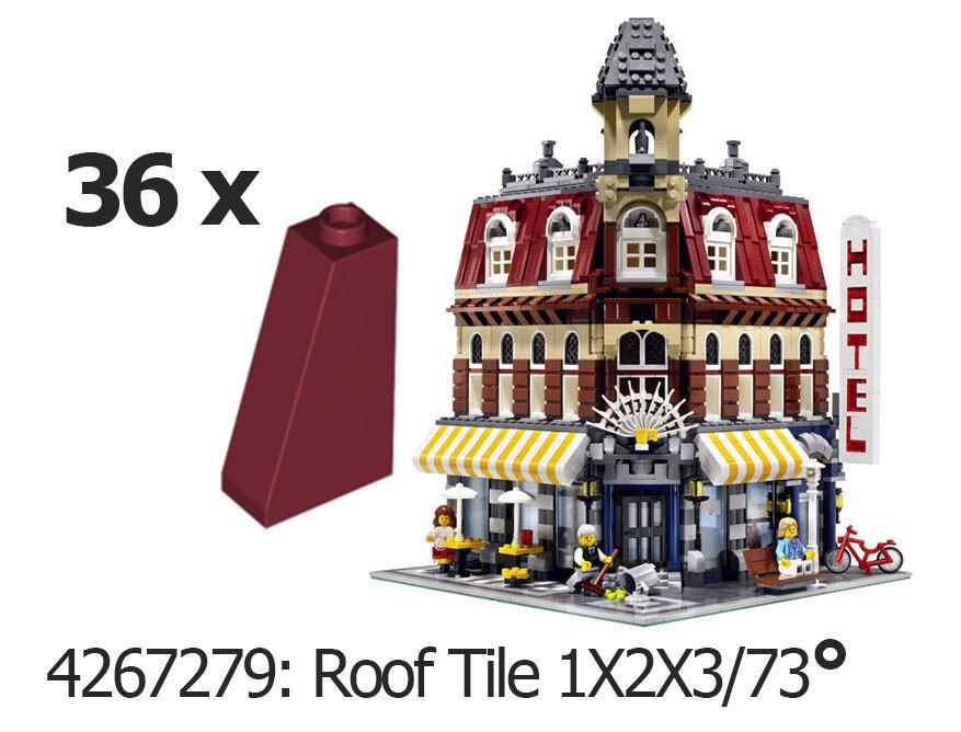 LEGO 36x tetto pietre pietre pietre 4460b Dark rot rot Scuro Slope 10182 4267279 Roof Tile a4802c
