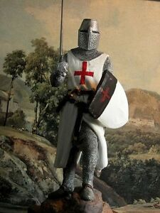 Hand-Painted-Medieval-Crusader-Knight-Figure-Realistic-Perfect-Gift-20-cm-7-87-034